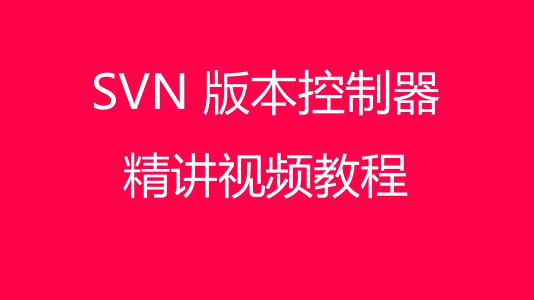 SVN 版本控制器精讲大发棋牌大发棋牌技巧技巧 视频 教程