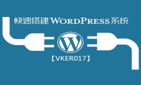 搭建WordPress系统视频课程_VKER017