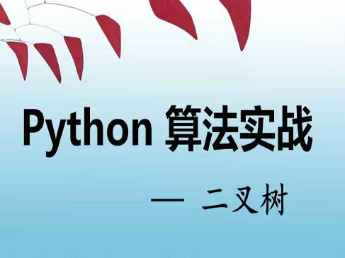 Python算法实战视频课程--二叉树