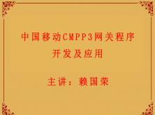 中国移动CMPP3网关程序开发应用视频课程