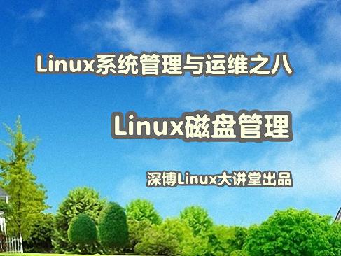 Linux磁盘管理实战视频课程
