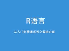 R语言基础与提升系列之数据对象视频课程