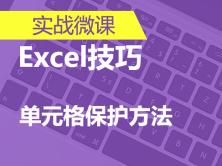实战微课-5分钟轻松学 Excel 之【1种单元格保护方法】