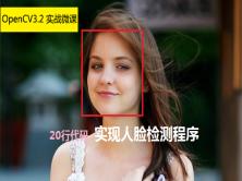实战微课-20行代码实现人脸检测程序视频课程