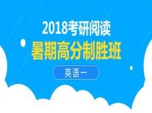 2018考研阅读暑期高分制胜班视频课程(英语一)