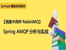 【消息中间件RabbitMQ】Spring AMQP分析与实战视频课程