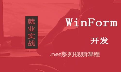 使用WinForm控件编写程序视频课程