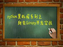 爬虫Scrapy实战开发视频课程