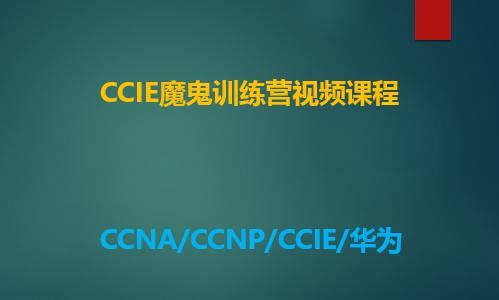 思科CCIE网络专家全套视频课程专题