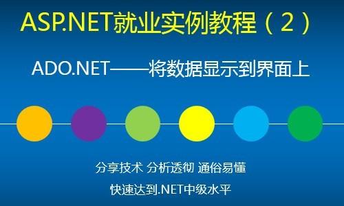 ASP.NET就业实例视频教程(2)ADO.NET——将数据显示到界面上