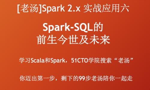 [老汤]Spark 2.x实战应用系列六之Spark SQL的前生今世及未来