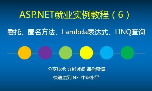 ASP.NET就业实例视频教程(6)委托、匿名方法、Lambda、Linq查询