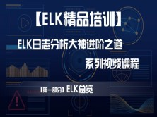 【ELK精品培训】【第一部分】ELK总览——ELK日志分析大神的进阶之道系列视频课程