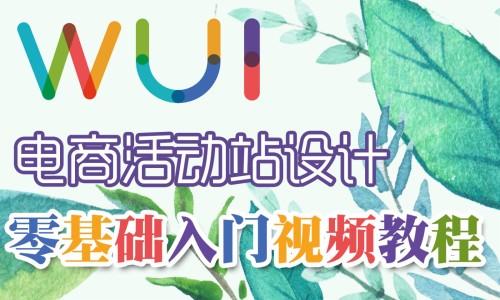 【吴刚大讲堂】电商活动站设计零基础入门标准视频教程