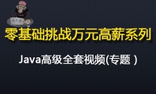 Java零基础挑战万元高薪系列之高级全套视频专题
