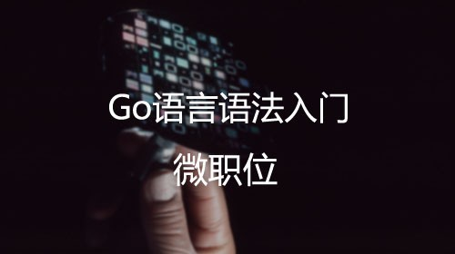 Go語言語法入門篇【微職位】