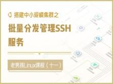 搭建中小规模集群之批量分发管理SSH服务视频课程(十一)