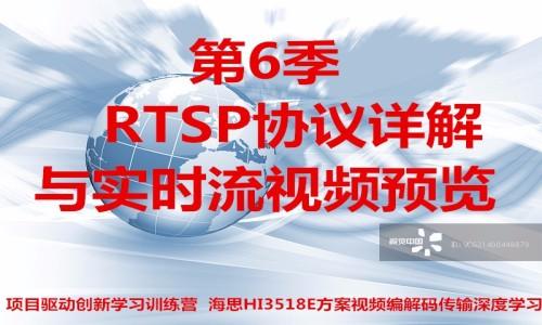 RTSP协议详解与实时流视频预览-第6/11季视频课程