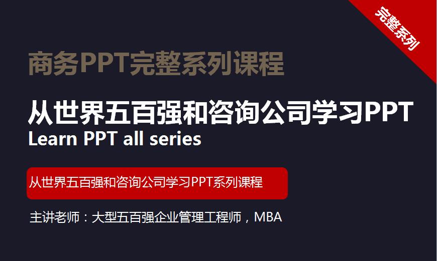 从世界五百强和咨询公司学习商务类型PPT全系列