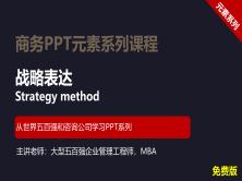 【司马懿】商务PPT设计进阶元素篇02【战略表达技巧】免费版