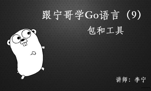 跟宁哥学Go语言视频课程(9):包和工具