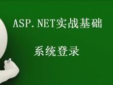 ASP.NET实战基础-系统登录视频课程