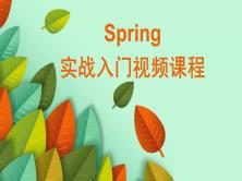 Spring实战入门视频课程