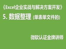 Excel企业实战系列5:数据整理类问题(单表单文件的)(买前务必看下面的课程简介!)