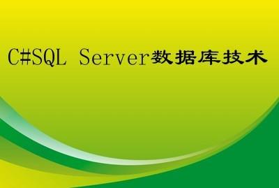C#SQL Server数据库技术视频课程