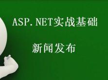 ASP.NET实战基础之新闻发布视频课程