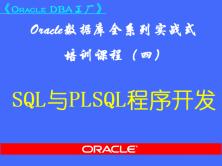 Oracle DBA工厂(四)-SQL与PL/SQL程序开发视频课程