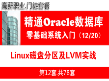 Linux磁盤分區及LVM實戰_Oracle數據庫入門必備視頻課程12