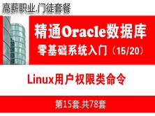 Linux用户权限类命令_Oracle数据库入门必备视频课程15