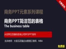 【司马懿】商务PPT设计进阶元素篇10【表格设计技巧】免费版