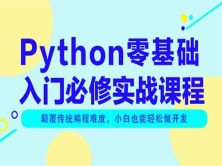 Python零基础入门实战必修视频教程