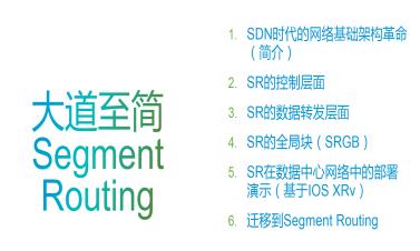 思科SDN時代新型協議段路由Segment Routing從基礎到實施【視頻教程】