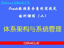 Oracle DBA工厂(二)-Oracle极速入门全系列视频教程之体系架构