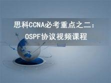 思科CCNA必考重点之二:ospf协议视频课程