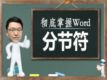 彻底掌握Word分节符视频课程