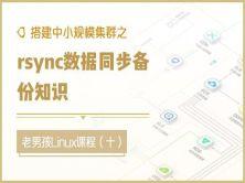 搭建中小规模集群之rsync数据同步备份知识(十)