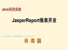 报表开发(JasperReport)视频课程