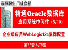 企业级WebLogic12c集群配置与项目实施_WebLogic中间件维护与管理05