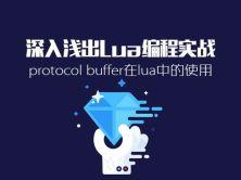 深入浅出Lua编程实战视频课程:(3)protocol buffer在lua中的使用