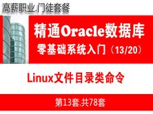 Linux文件目录类命令_Oracle数据库入门必备培训视频课程13