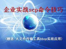 企业实战 scp 命令技巧视频课程(赠送:大文件传输工具bbcp实战应用)