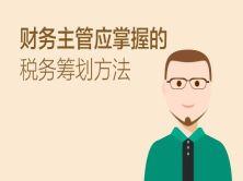 财务主管应掌握的税务筹划方法视频教程