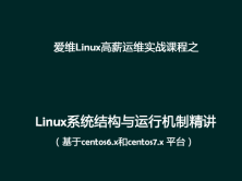 Linux系统结构与运行机制精讲视频课程(基于centos6.x和centos7.x)