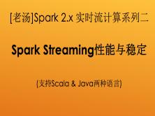 [老汤]Spark 2.x大数据实时流计算之Spark Streaming性能与稳定(系列二)