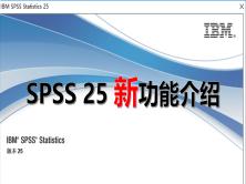 SPSS Statistics 25 新功能介紹視頻教程