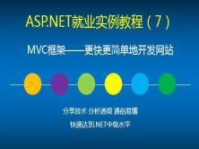 ASP.NET就業實例視頻教程(7)MVC框架——更快更簡單地開發網站